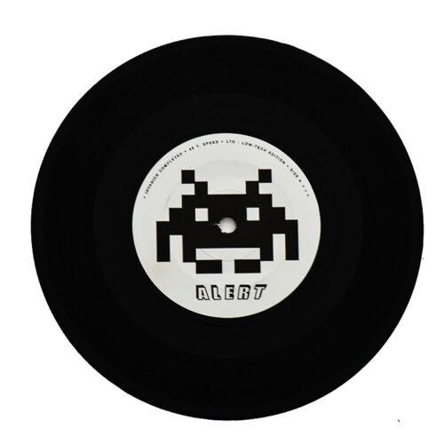 invader crash alert vinyl record alert side