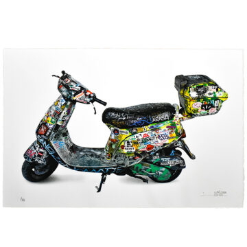 invader scooter print