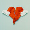 kaws kanye west 808's and heartbreak vinyl record showing middle pf cover with heart detail