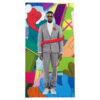 kaws kanye west 808's and heartbreak vinyl record showing kanye west poster
