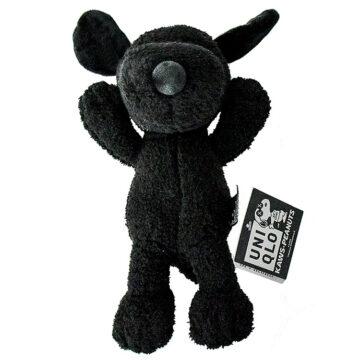 kaws uniqlo snoopy plush black small