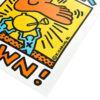 keith haring crack down poster showing right side
