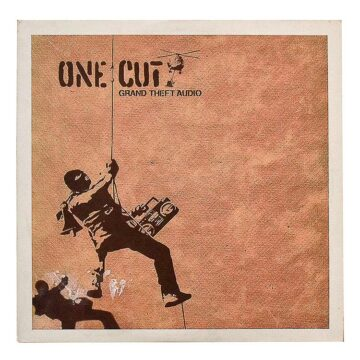 banksy one cut grand theft audio record front cover
