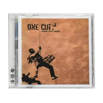 banksy one cut grand theft audio cd front cover