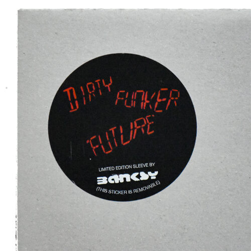 banksy dirty funker future radar rat grey cover showing limited edition sticker