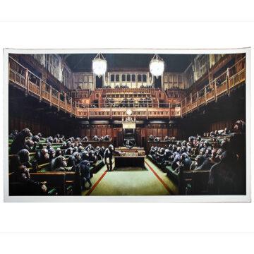 banksy monkey parliament