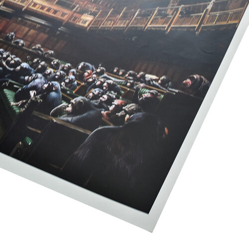 banksy monkey parliament showing right side of poster