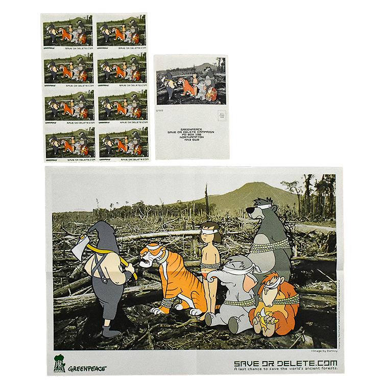 SAVE OR DELETE Greenpeace Print (with Sticker sheet and Postcard)