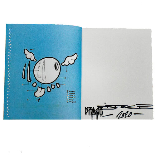 dface the monograph signed showing inside cover with dface signature