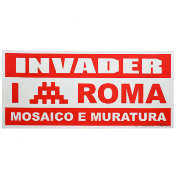 invader mosaico e muratura print