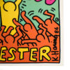 close up of bottom right of back cover of keith haring sylvester someone like you record showing keith haring signature