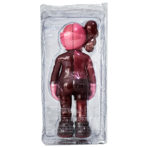 kaws companion blush flayed shown from back of sealed package